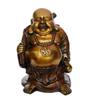 Statue Studio Black Brass Laughing Buddha Statue