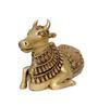 Statue Studio Golden Brass Nandi Statue Showpiece