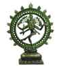 Statue Studio Green Brass Natraj Small Durable & Sturdy Statue Showpiece