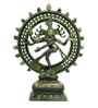 Statue Studio Green Brass Natraj Statue Showpiece
