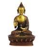 Statue Studio Multicolour Brass Sitting Buddha Statue