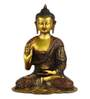 Statue Studio Golden Brass Sitting Buddha Statue