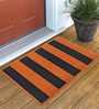 San Pablo Door Mat in Orange and Gray by CasaCraft