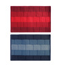 Status Red & Blue Delure 23 x 15 Inch Bricked Door Mat - Set of 2