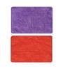 Status Purple & Orange Solid Iris Doormats Set - 2pcs