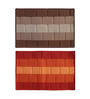Status Brown & Red Delure 23 x 15 Inch Bricked Door Mat - Set of 2