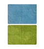 Status Blue & Green Solid Iris Doormats Set - 2pcs