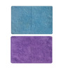 Status Blue & Purple Solid Iris Doormats Set - 2pcs