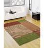 Status Multicolour Nylon 72 x 48 Inch Luxurious Taba Area Rug