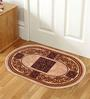 Status Cream Nylon 23 x 15 Inch Taba Oval Shape Door Mat