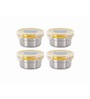 Steel Lock Multicolour 200 Ml Storage Container - Set of 4
