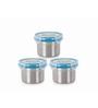 Steel Lock Storage Container - Set of 3
