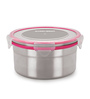 Steel Lock Silver Round 1L Food Lock Canister - Set of 5