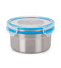 Steel Lock Silver Round 500 ML Food Lock Canister - Set of 5