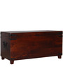Hudson Solid Wood Small Blanket Box in Honey Oak Finish by Woodsworth