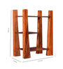 La Stella Provincial Teak Wooden Div 3 Tier Wall Shelf