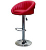 Steno Cushioned Red Color Bar Chair by VJ Interior