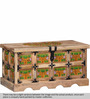 Sthagika Hand Painted Trunk Box in Natural Finish by Mudramark