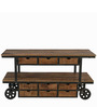 Stienway Bar Trolley in Brown Colour by The Yellow Door Store