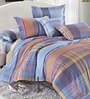 Stoa Paris Multicolour Cotton Abstract King Bed Sheet (with Pillow Covers) - Set of 3