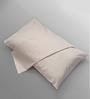 Stoa Paris Check Dobby Pink Cotton Pillow Cover - Set of 2
