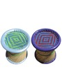 Stool Set of 2 in Multi Colour by Shinexus