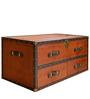 Leather Streamer Trunk Coffee Table By Studio Ochre