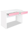 Study Table in Pink & White Colour by Alex Daisy