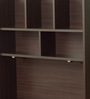 Study Table with Shelves in Wenge Finish by Marco