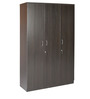 Sturdy Three Door Wardrobe in Wenge Finish by Kurl-On