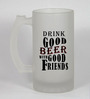 Stybuzz 500 ML Beer With Good Friends Frosted Beer Mug