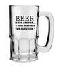 Stybuzz 600 ML Remember The Question Beer Mug