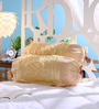 Stybuzz Beige Tissue Silk 16 x 30 Inch Bolster Covers - Set of 2