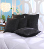 Stybuzz Black Jute 16 x 16 Inch Cushion Covers - Set of 5