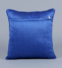Stybuzz Blue & White Jute 16 x 16 Inch Embroidered Cushion Cover - Set of 5