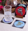 Stybuzz Bollywood Theme Multicolour Acrylic Square Coasters - Set Of 4