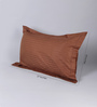 Stybuzz Brown Cotton 18 x 27 Pillow Cover - Set of 2
