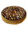 Stybuzz Brown Velvet 16 x 16 Inch Donut Pillow Cushion Covers with Insert