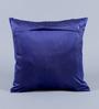 Stybuzz Deep Blue Velvet 16 x 16 Inch Gold Print Cushion Cover - Set of 5