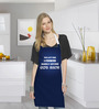Stybuzz Blue Funny Quote Cotton Blue Cotton Kitchen Aprons