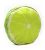 Stybuzz Green Velvet 16 x 16 Inch Lime Fruit Slice Cushion Cover with Insert