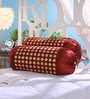 Stybuzz Maroon Dupion Silk 16 x 30 Inch Bolster Covers - Set of 2