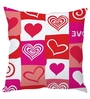 Stybuzz Multicolor Poly Silk 16 x 16 Inch Heart Abstract Cushion Cover