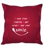 Stybuzz Multicolour Poly Silk 16 x 16 Inch Smile Cushion Cover