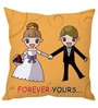 Stybuzz Orange Poly Silk 16 x 16 Inch 'Forever Yours' Abstract Cushion Cover