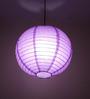 Stybuzz Purple Paper Round Lantern