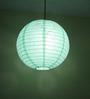 Stybuzz Green Paper Round Lantern