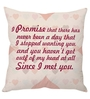 Stybuzz Peach Poly Silk 16 x 16 Inch Since I Met You Cushion Cover