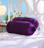 Stybuzz Purple Dupion Silk 16 x 30 Inch Bolster Covers - Set of 2