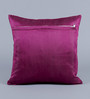 Stybuzz Purple Velvet 16 x 16 Inch Circle Pattern Embroidered Cushion Cover - Set of 5